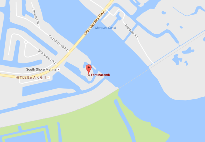 To find Fort Macomb, you have to travel out on Chef Menteur Hwy, through the Village de L'est area.