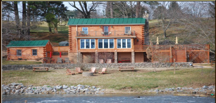 6. A Rustic River Cabin (Massanutten)