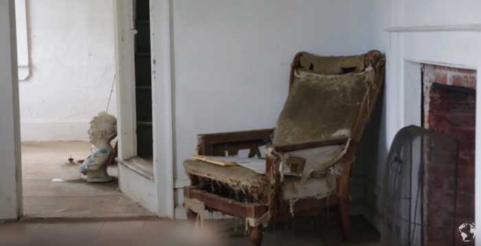 The abandoned community is filled with reminders of its former life. There's a cemetery, schoolhouse and even original furniture.