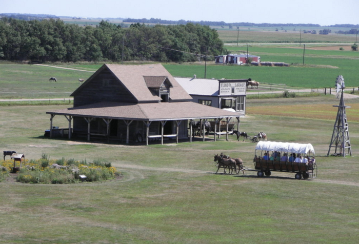As you'd expect, the homestead is located on a beautiful prairie that jumps right from the pages of the original books.