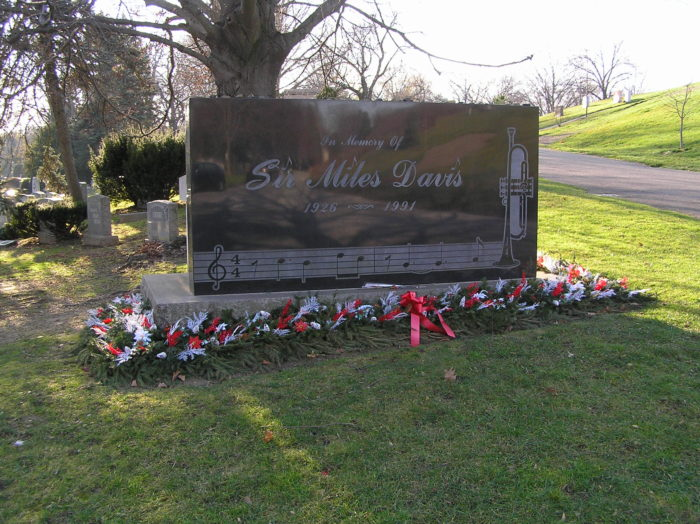 9. Sir Miles Davis - Woodlawn Cemetery, New York City