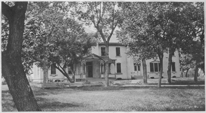 4. Larger school and dormitory located in Springfield, South Dakota, 1918