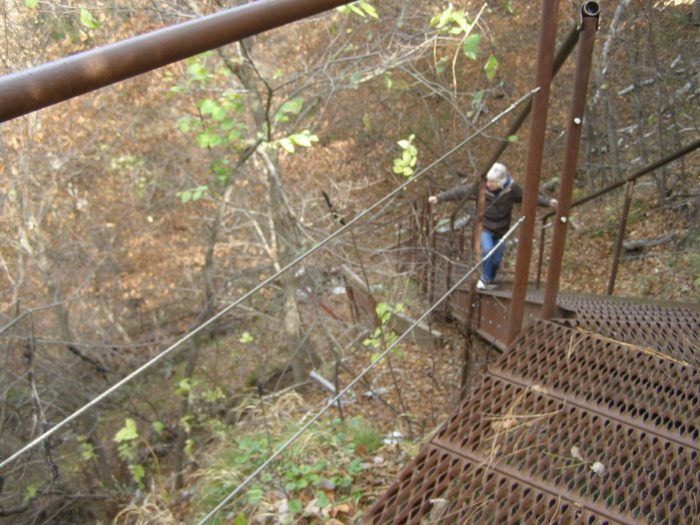 Park near Fort Falls to begin your hike. The first part of the trail will take you down a metal staircase into the valley where you'll find...