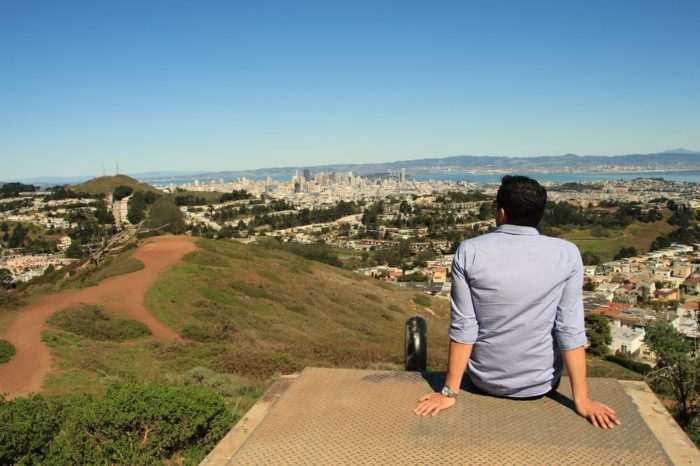 Sit and chill at the top of the city!