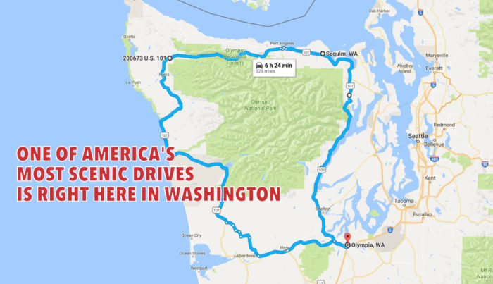 So which drive are we talking about here in Washington? The Olympic Peninsula Loop!
