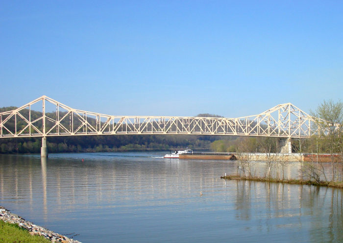He was traveling down the Ohio River near the future site of the town, when he had a vision.