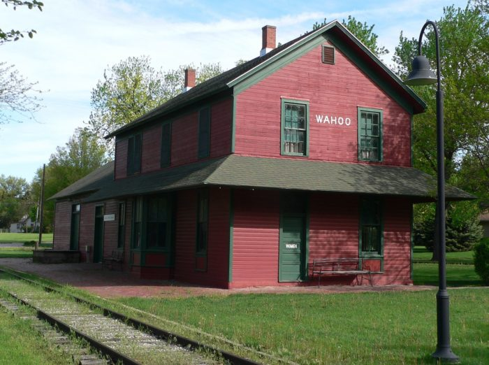 The Wahoo Burlington Depot is also on the National Register of Historic Places. The well-maintained example of a late 19th century train depot was originally built by the Chicago, Burlington and Quincy Railroad.