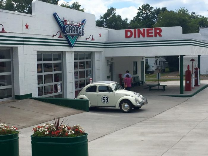 You never know what classic cars will show up parked outside of this place.
