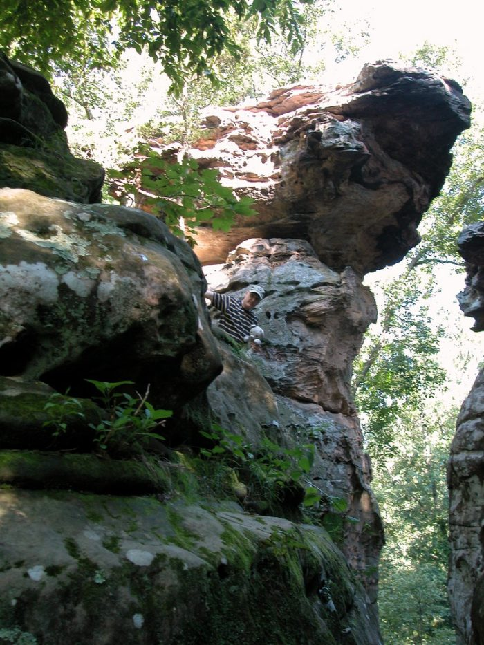 These rocks are great for hiking and climbing.