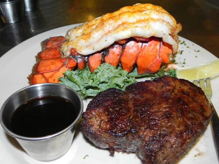 It also has your classic supper club fare, including delicious surf and turf.