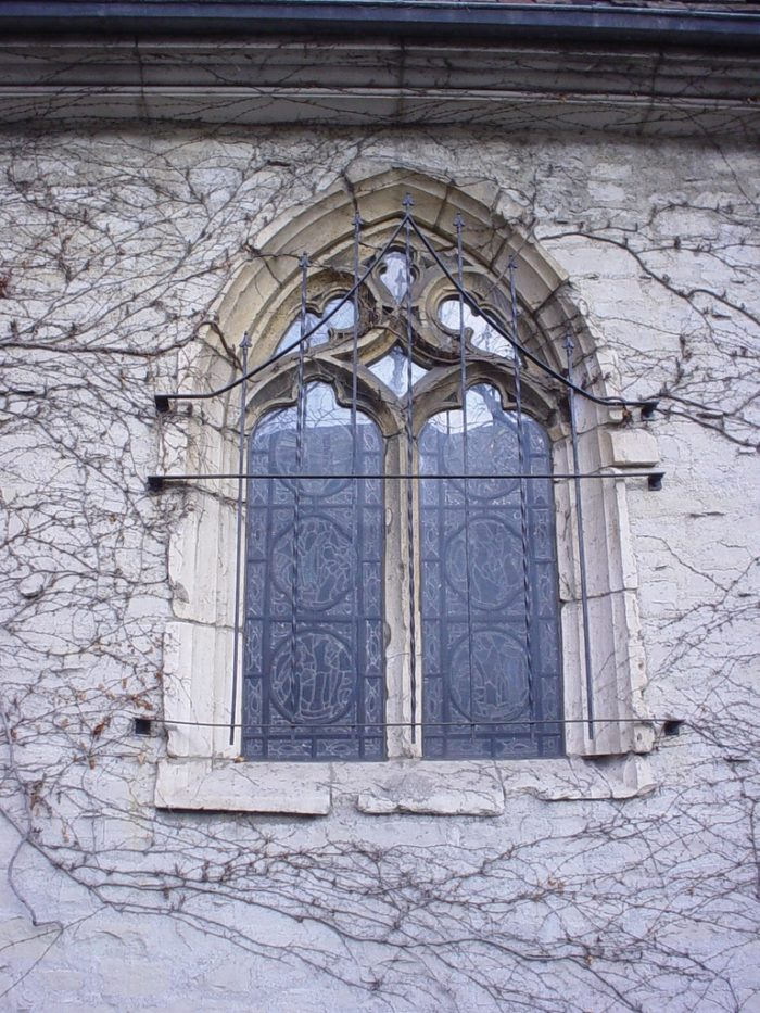 Some is not entirely old, however, like the stained glass windows. However, they are made to look like classic windows.