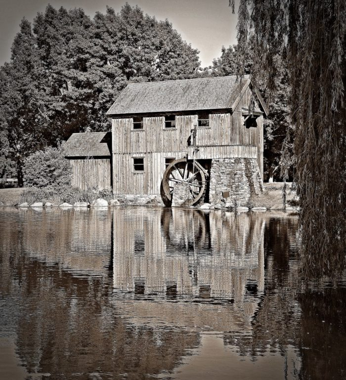 This beautiful old mill is located on the edge of the Museum's Severin Lake.