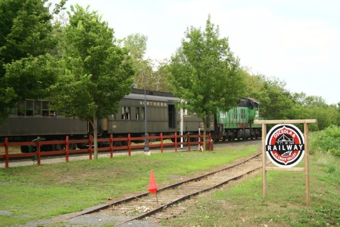 You will be riding a diesel powered train with vintage cars.