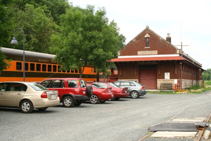 Your trip begins at this historic train depot from 1906, which has been fully restored.