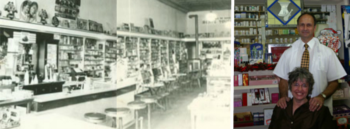 Back then, the town pharmacy was a gathering place where kids could go after school for a milkshake or ice cream sundae. The soda fountain dispensed soda water to which flavored syrups were added, creating the kind of treat that's hard to find these days.