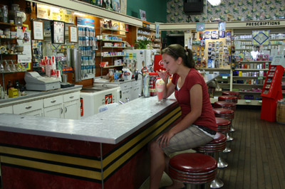 But Arapahoe Pharmacy - also known as Morris Drug Store - is one of very few places where you can still get that retro taste. The original soda fountain is still used, as is the recipe for vanilla syrup that Floyd Morris developed in the '50s. They serve phosphates, ice cream, and some of the tastiest sodas you'll ever try.
