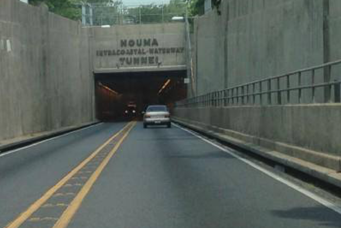 Technically called the Houma Intracoastal Waterway tunnel, there is currently some debate over whether the tunnel should remain or if there should be an overpass instead.