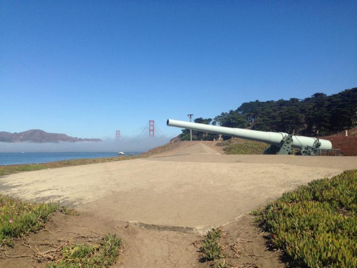 6. Batteries to Bluffs Trail: The Presidio Langdon Court/Battery Godfrey, San Francisco.