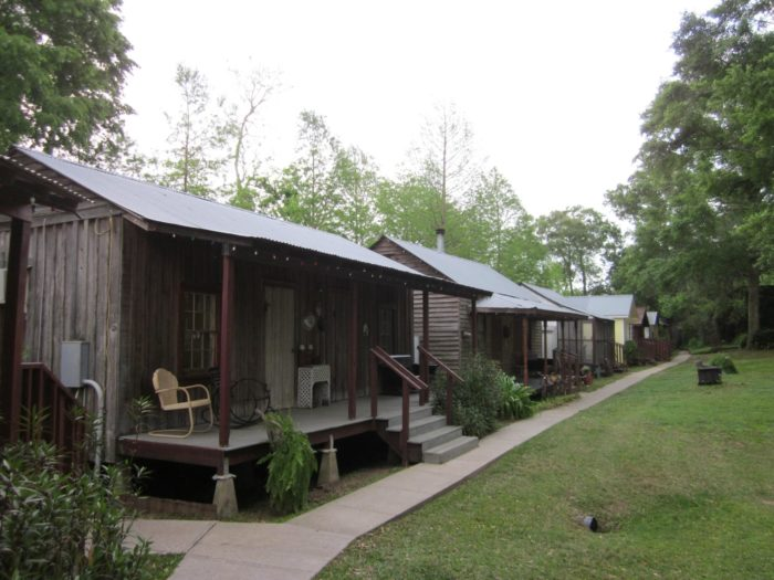 There is a row of cabins that all have a unique character, right on Bayou Teche.