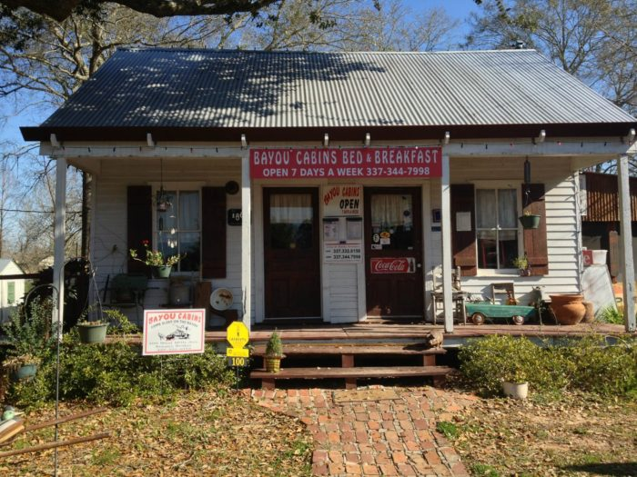 When you arrive at the Bayou Cabins in Breaux Bridge, you'll feel at home right away.