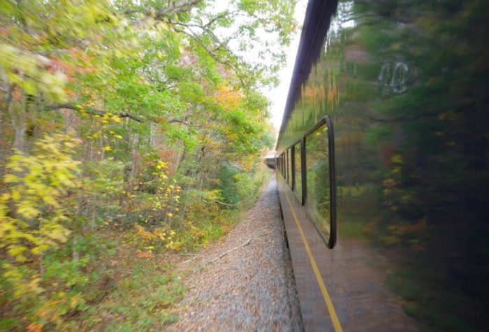 On the fall foliage ride, you'll be touring the state for about 4 hours and 26 miles round trip.