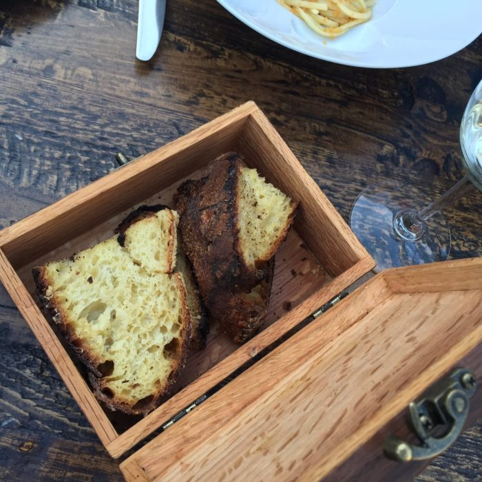 The food has different twists on Italian classics. You can order a focaccia bread box where the bread is served in a wooden box and the restaurant is known for its fresh ingredients.
