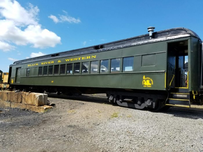 "Black River & Western Railroad offers scenic ""Pumpkin Train"" rides throughout October."