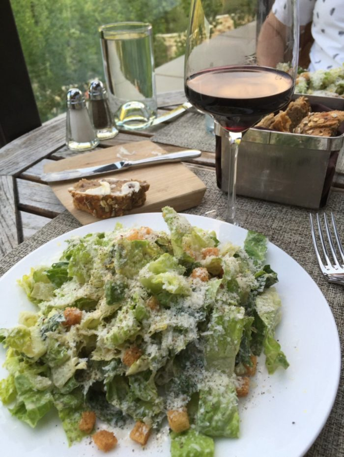 The food is excellent, too! Start with a Caesar salad...
