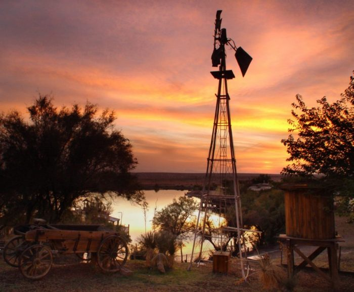 It's located on a working ranch, so you'll get to dine with this view surrounding you.