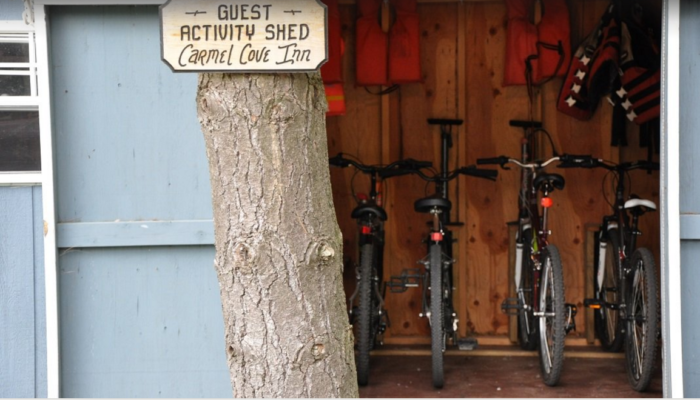Guests at the inn can enjoy all the amenities, including access to the activity shed.