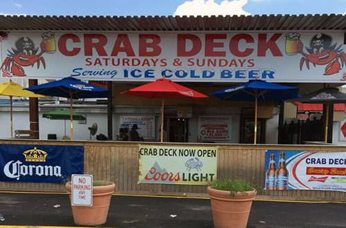 Or if you're looking to treat yourself, head to the Crab Deck for delectable steamed crabs.