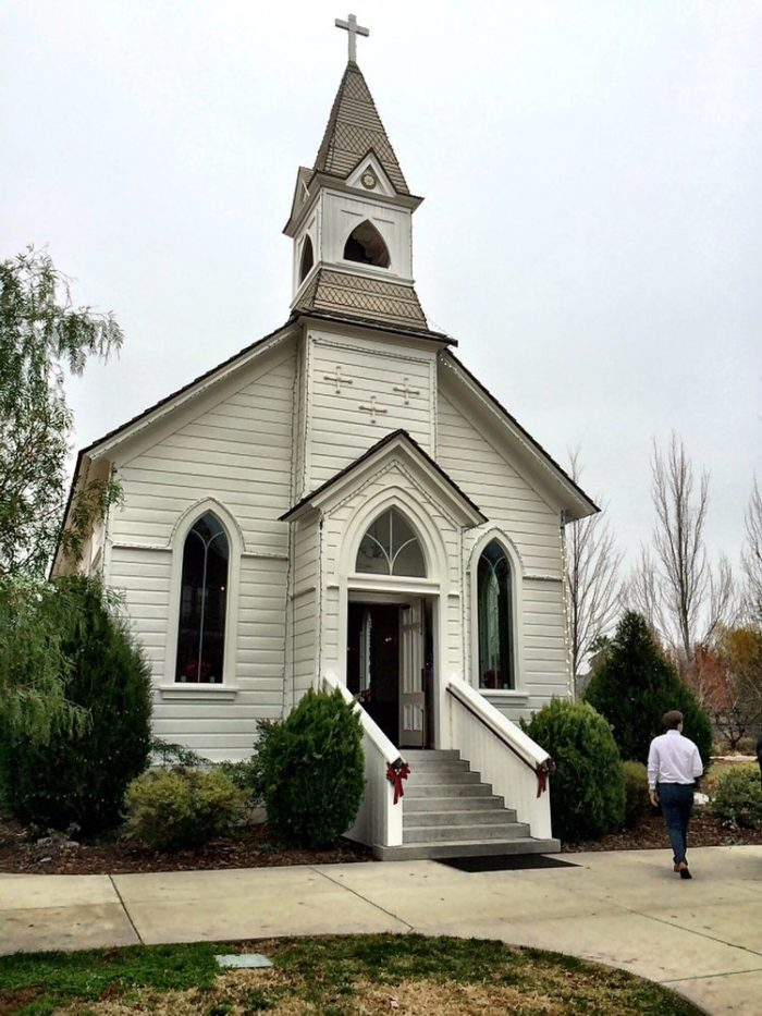 St. Mary's stands today as a nondenominational chapel. This means you're welcome to bring your pastor or minister to officiate your event. The front is like something out of a fairy tale. Those stairs would be a wonderful spot to put all of your family for a photo!