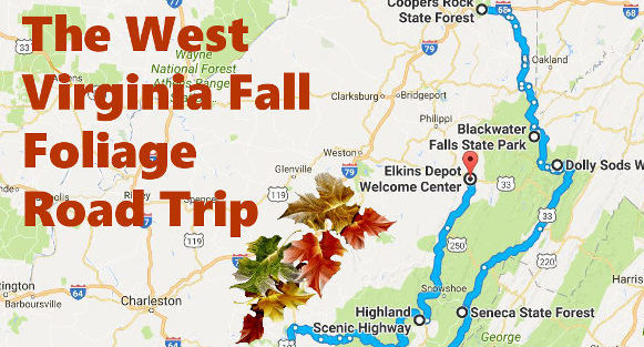 Here39s Your Road Trip To See The Best West Virginia Fall. Virginia Fall Foliage Map   afputra com