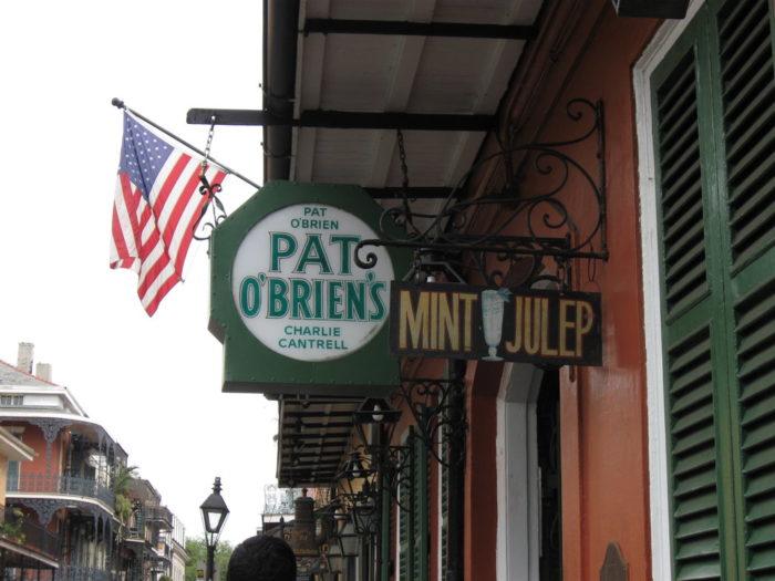 6) Pat O'Brien's, 624 Bourbon St.