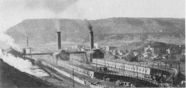 These are the town's coke ovens in 1920. As you can see, the mining operation here was a substantial one.