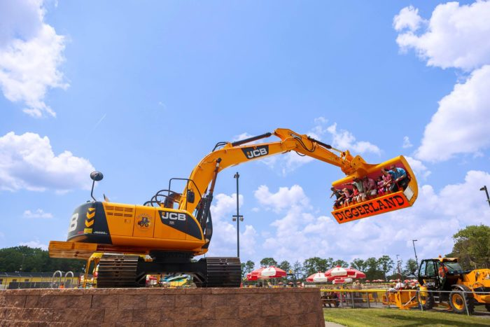 What might first appear to be a construction site, Diggerland USA is the only construction-themed amusement park in North America.