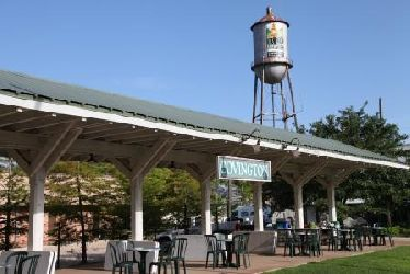 The Covington trailhead is located at the old railroad station, which has become a hub for community activity.