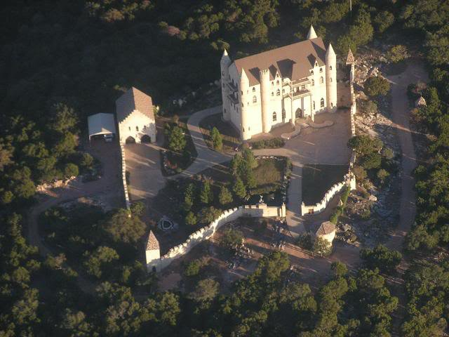 Falkenstein Castle was built in 1996 by a couple inspired by their recent trip to Germany.
