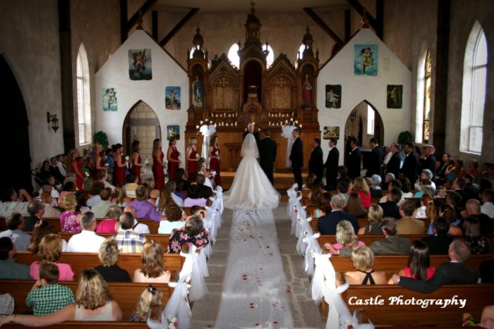 Upon entering, you'll find a gorgeous wedding chapel akin to those you've seen in movies...