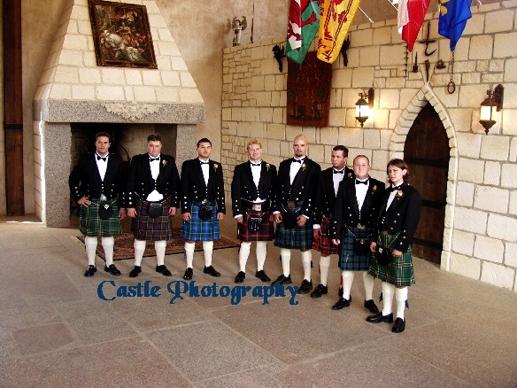 ...with staff members dressed in authentic Scottish kilts to help with the ceremony proceedings.