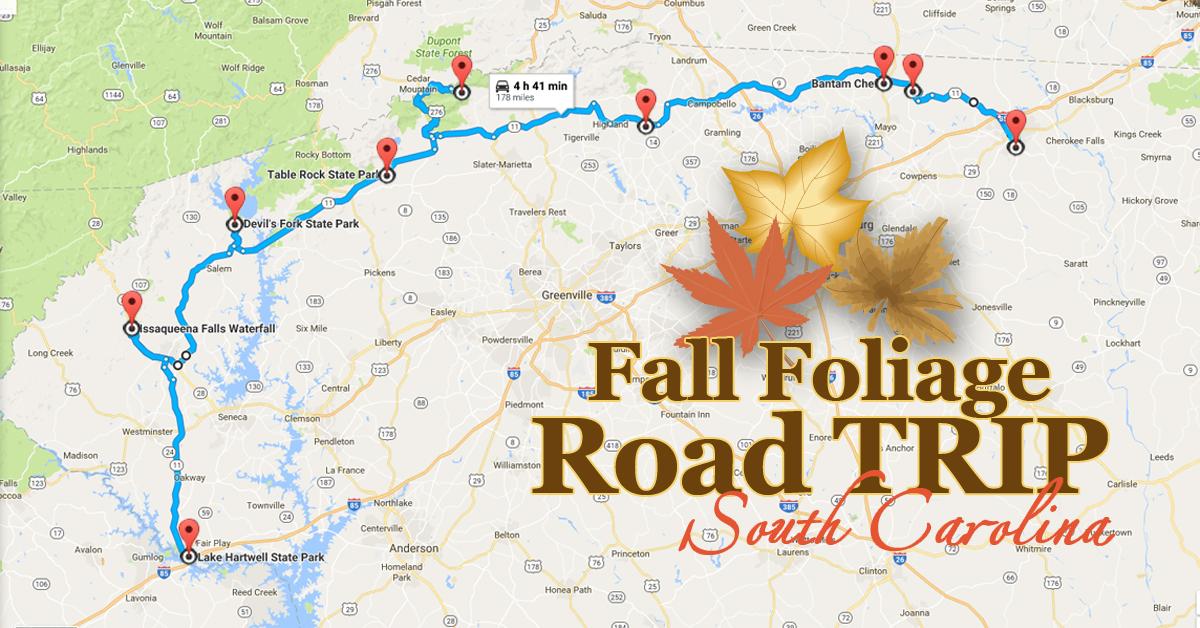 Take This Fall Foliage Road Trip in South Carolina