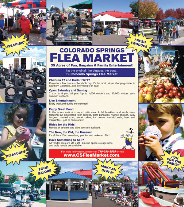 For more information about the marvelous Colorado Springs Flea Market, be sure to visit their website.