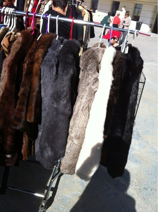 But, if you're more into full length furs then here's where you'll be. Not sure I've seen anyone in furs since Cary Grant was on the big screen, but hey, to each his own.