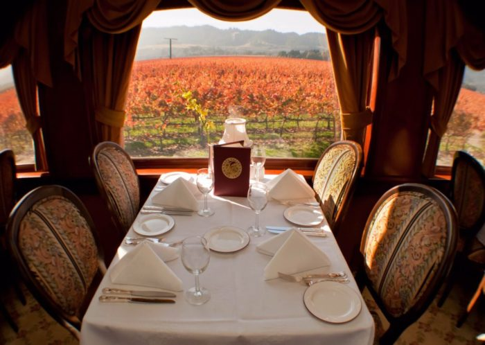 While you're weaving through some of the most amazing fall colors, don't forget you're actually on one of the most talked about Napa restaurants on wheels. It can be a little pricey but the consensus is it's worth every penny.