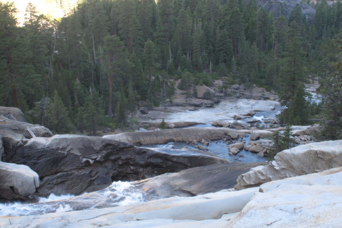 Years of rushing water found its way from east to west in the meandering Tuolumne River.