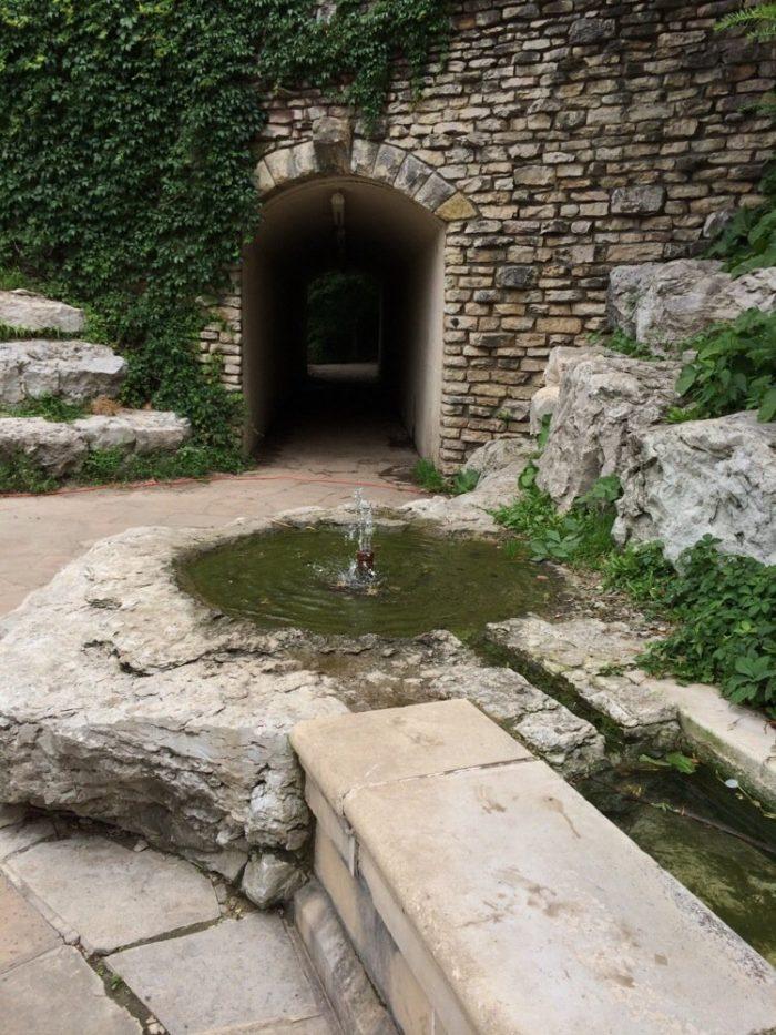 This spot was originally built up around a natural spring.