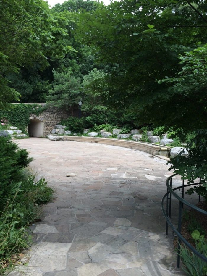 The grotto is an oasis within a retreat - a double layer of peacefulness.