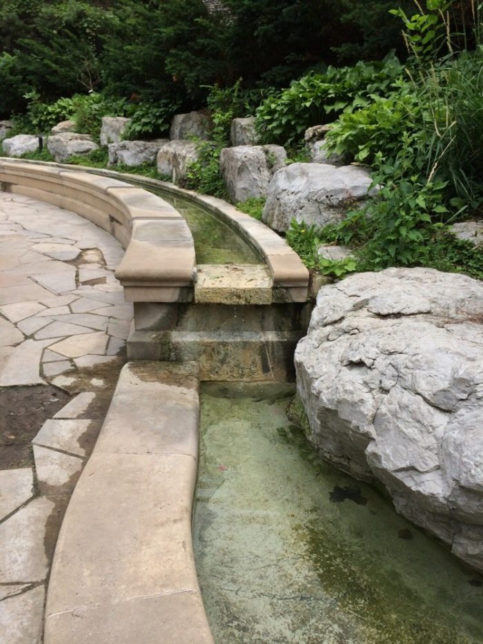 The water has since been deemed unsafe to drink, but the natural spring still plays a big role in the peaceful grotto.