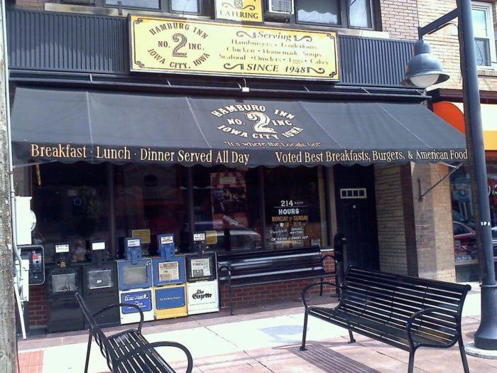 Breakfast, Day 1: The Hamburg Inn 2, Iowa City