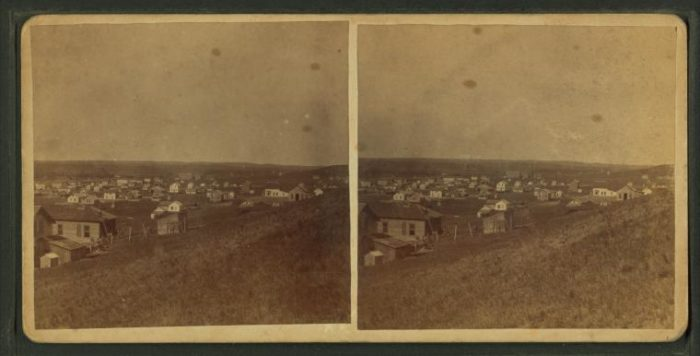 5. This Dakota Territory town was in its earliest stages in this photograph.